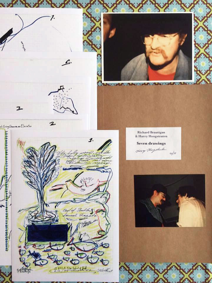 Richard Brautigan & Harry Hoogstraten - Seven Drawings