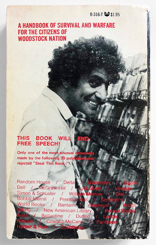 Abbie Hoffman - Steal this Book (first printing)
